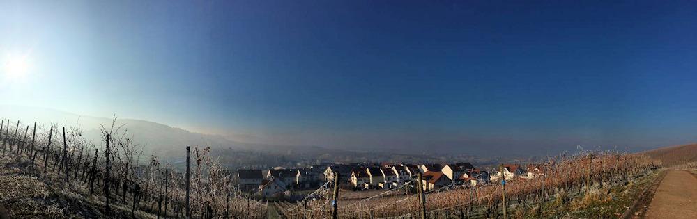 Strümpfelbach im Winter Panoramafoto